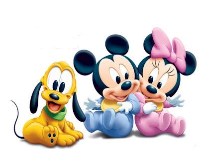 Desenho Mickey e Minnie baby colorido