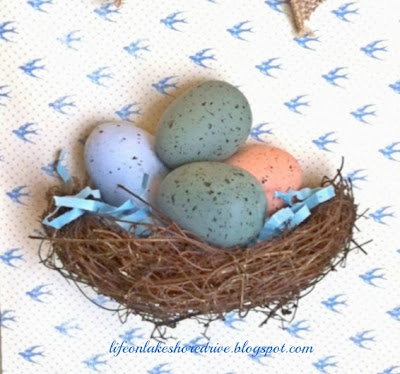 nest with eggs tutorial wall art