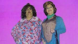 Gordo vestido de mujer