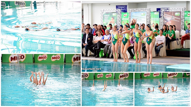 All present were truly entertained by the synchronized swimming performance
