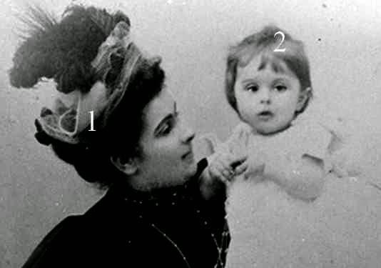 princesse Arsène Karageorgévich, née  princesse Aurora Pavlovna Demidoff di San Donato et son fils le prince Paul de Yougoslavie