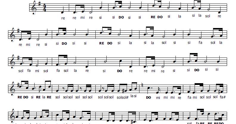 Musica e spartiti gratis per flauto dolce inno d 39 italia for Semplice creatore di piano gratuito