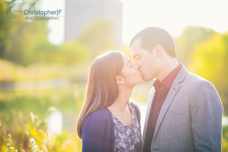Chicago Natural Engagement Photo