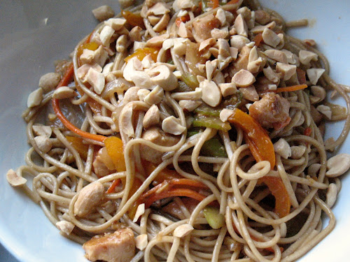 Soba Lo Mein with Chicken