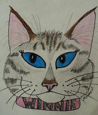 A Cat-Toon of my Winnie-Girl
