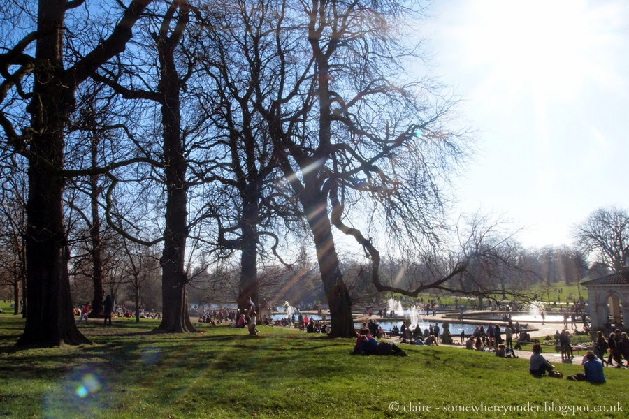 People watching from my favourite spot at the Italian Gardens - Hyde Park
