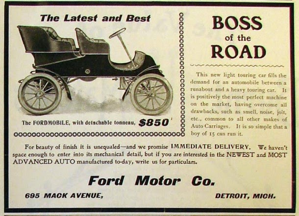 Early Advertisements Of Ford Motor Company From The 1900s Vintage Everyday