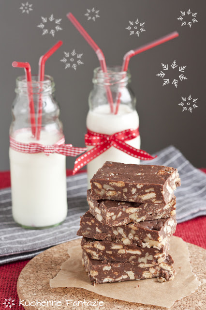 blok czekoladowy, przepis, mlekow  proszku, herbatniki, orzechy włoskie, świąteczne przepisy, potrawa wigilijna, smak dzieciństwa,