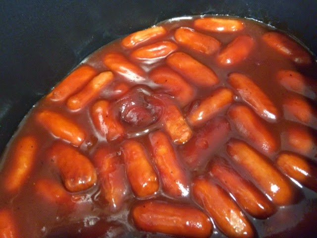 Smokies in Bourbon BBQ Sauce