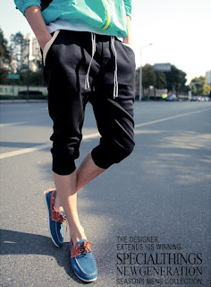 celana jogger pendek cowok