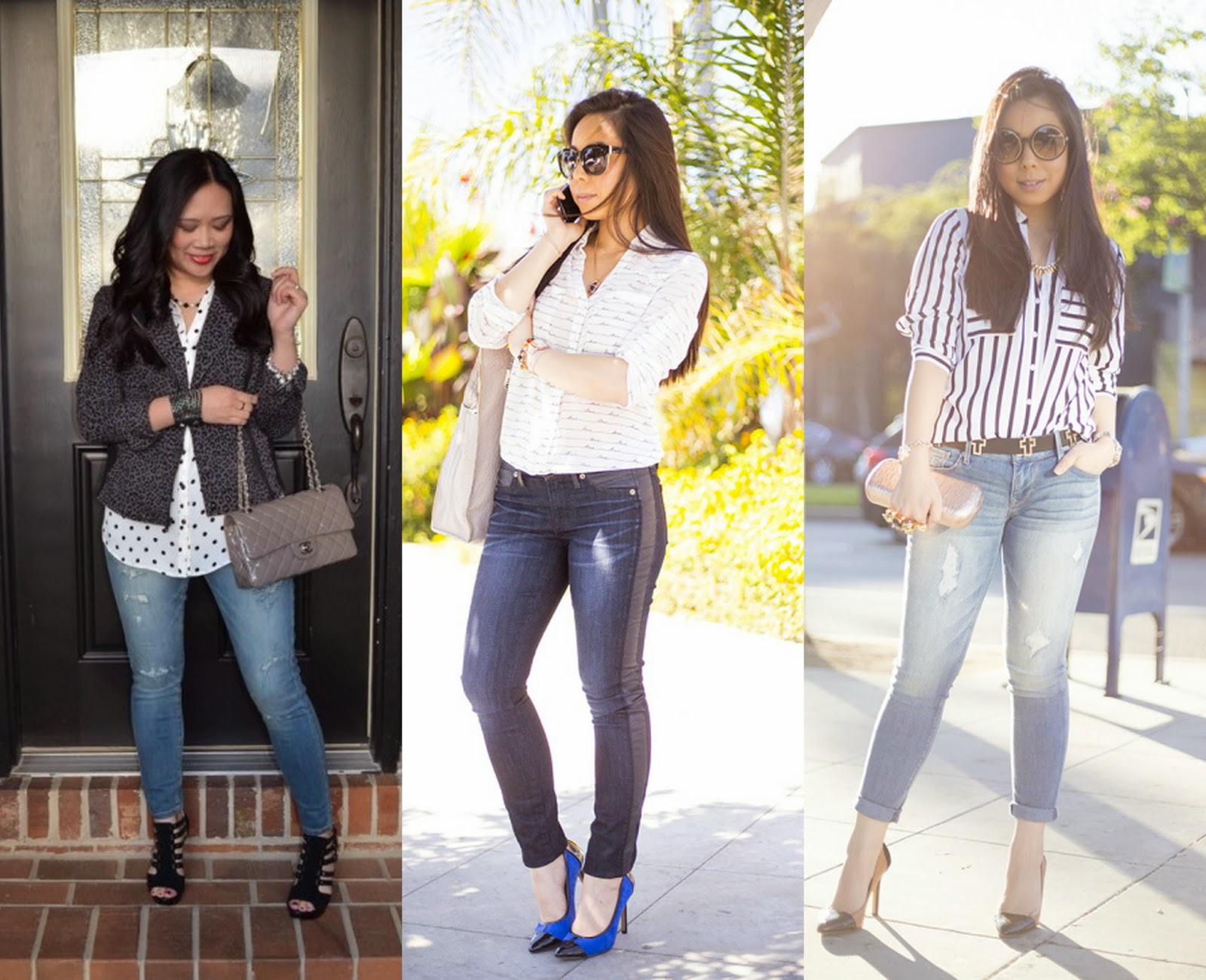 express portofino shirt, jeans, denim looks