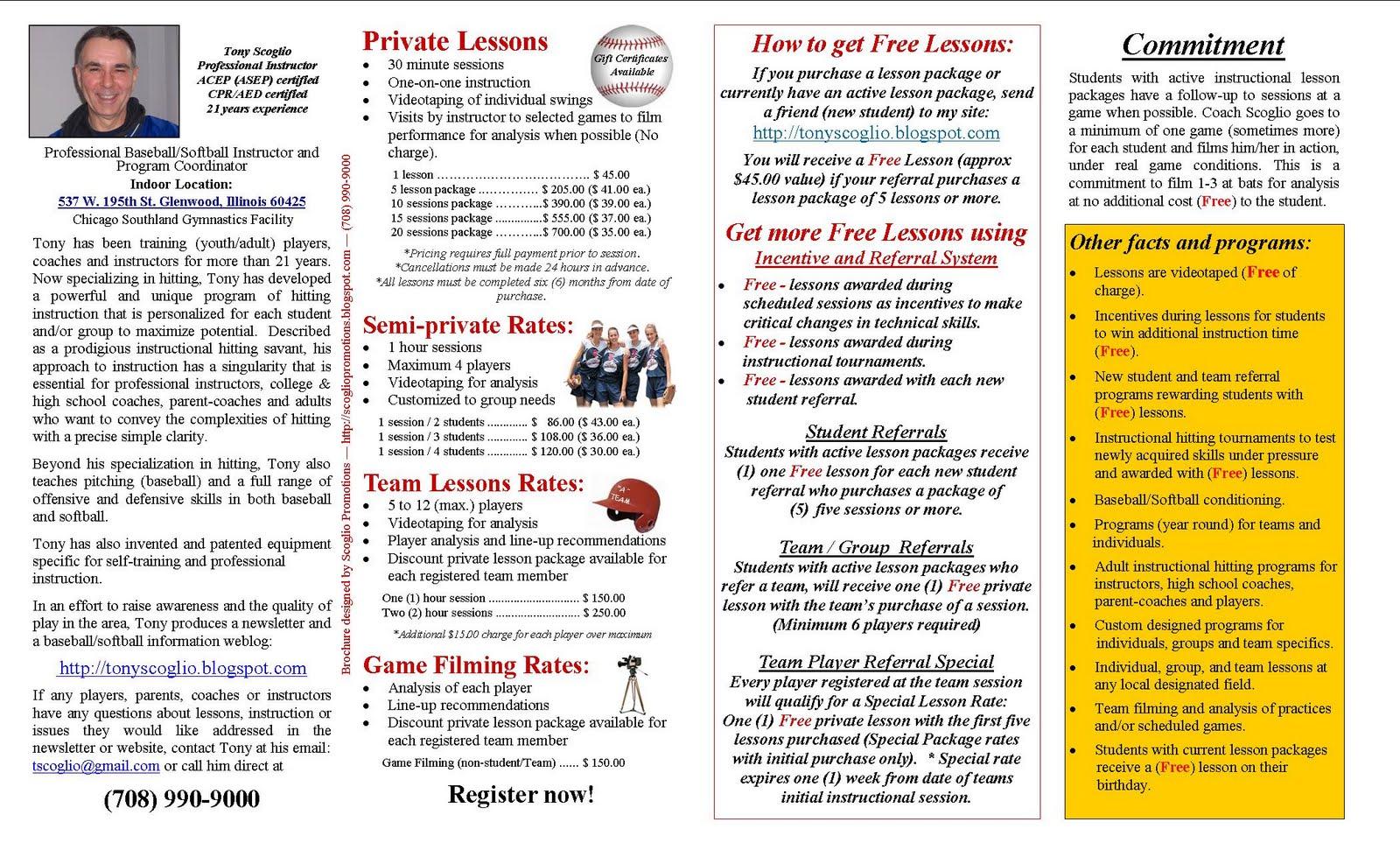Baseball Fast Pitch Softball Professional Instruction 850