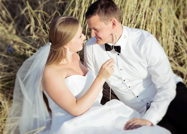 Komplet ślubny z sutaszu ivory