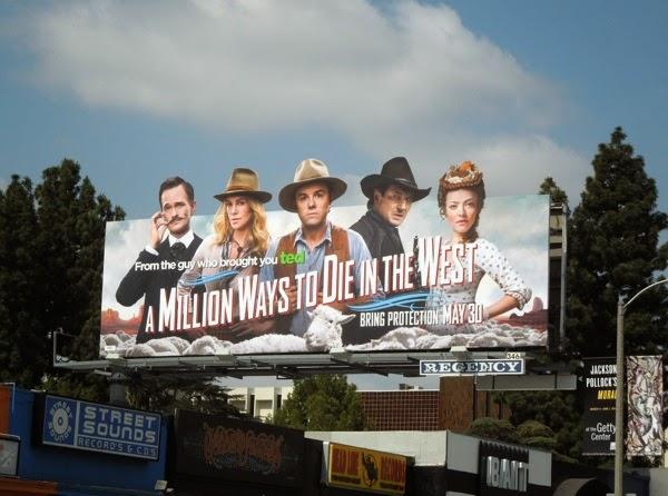 A Million Ways to Die in the West film billboard