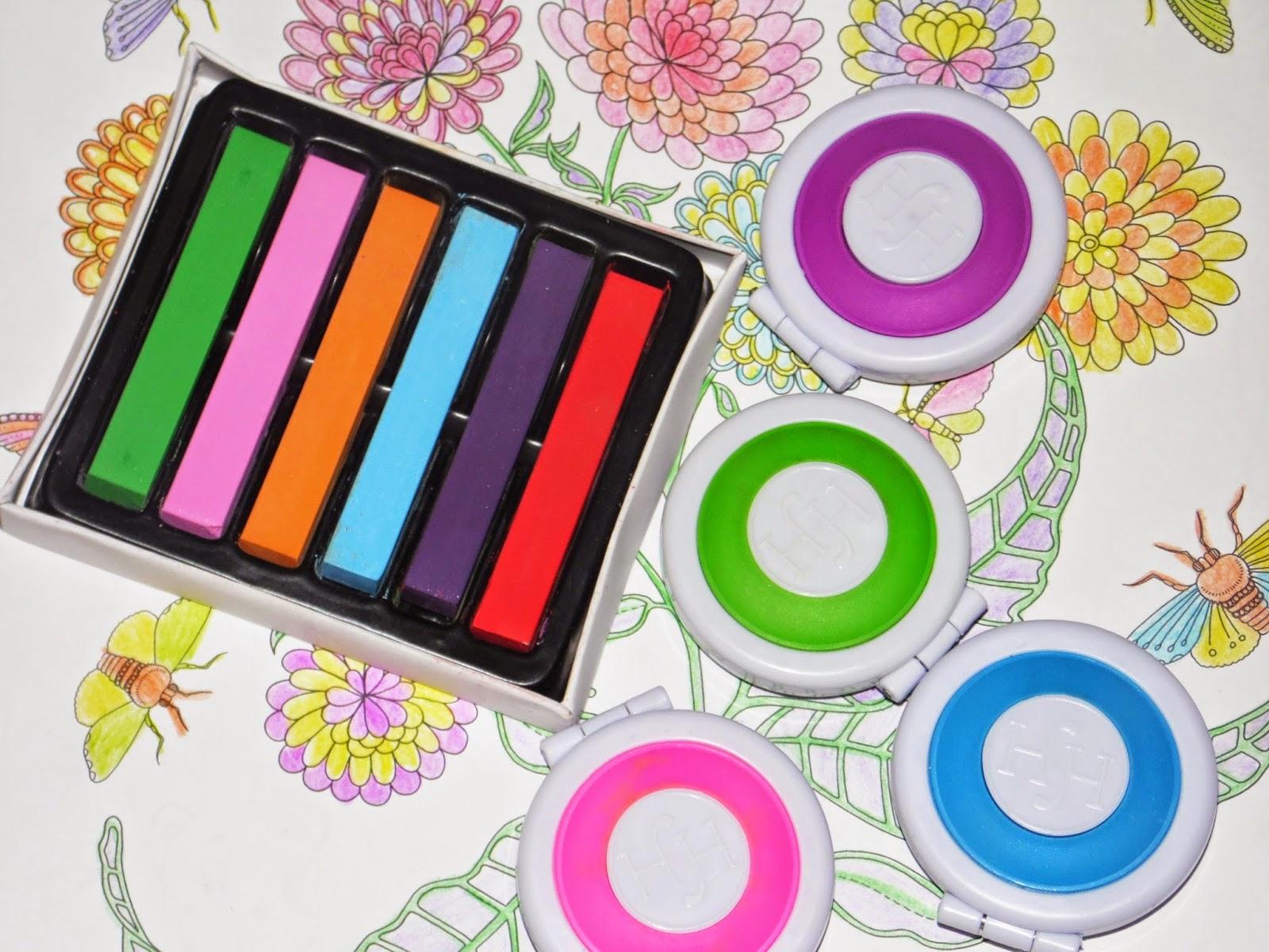 Как сделать цветные пряди цветные мелки 46