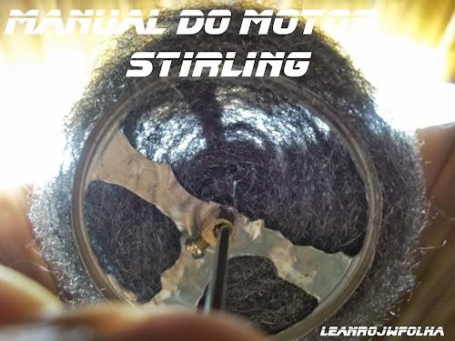 Manual do motor Stirling, transparência do pistão deslocador em lã de aço