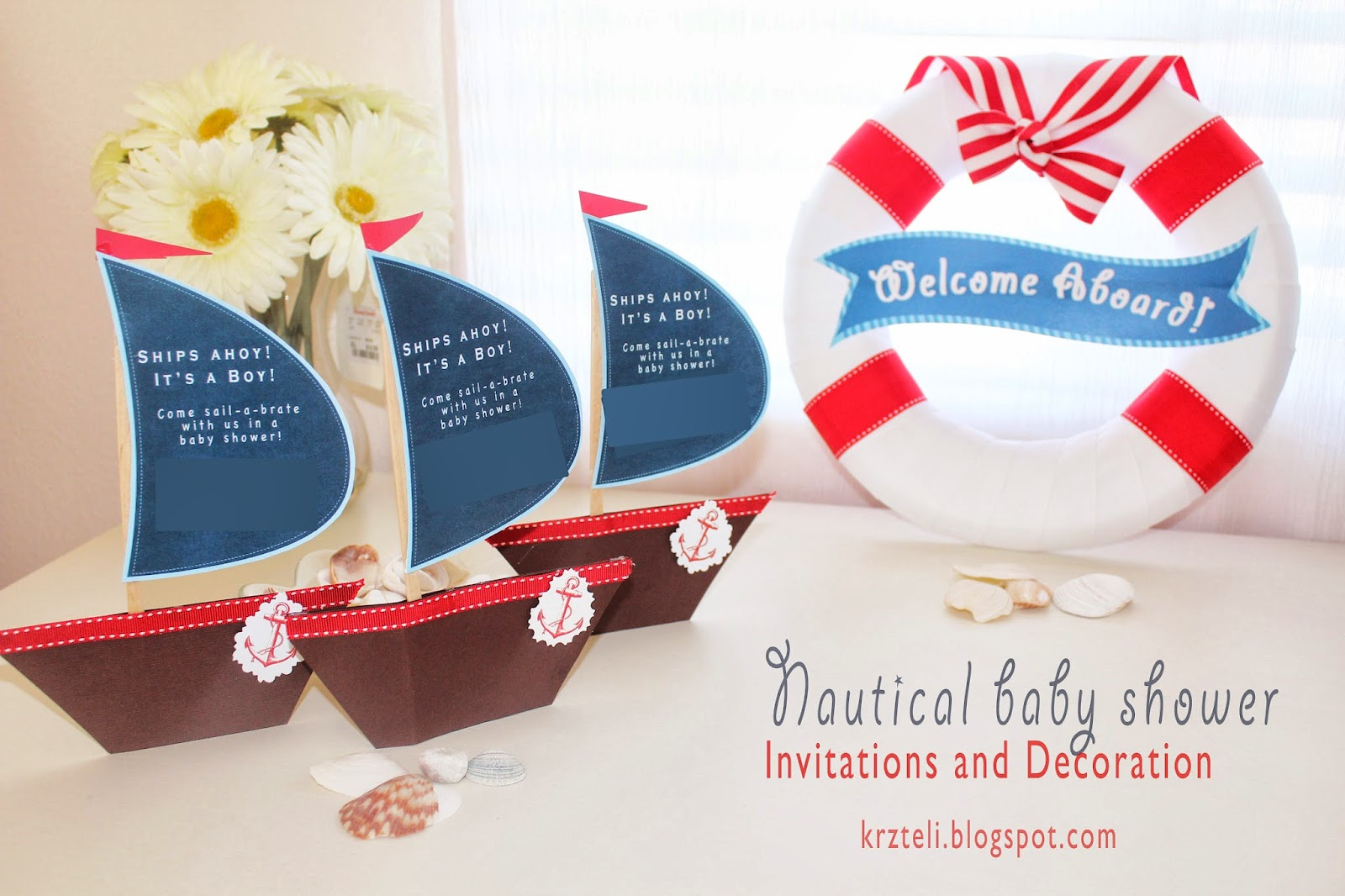 Pink Confessions **!: DIY Nautical Baby Shower Invitation and Decoration