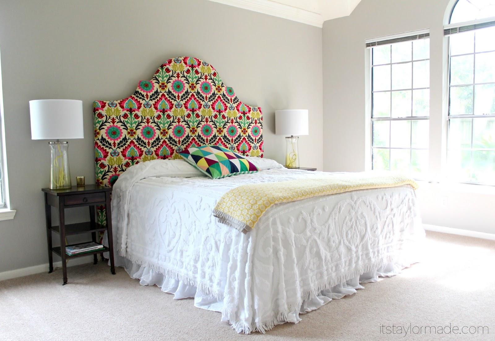 Hjem interiør design: diy hovedgærde ideer som et supplement bed set