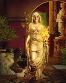 Hestia, Diosa del fuego del hogar y de los templos