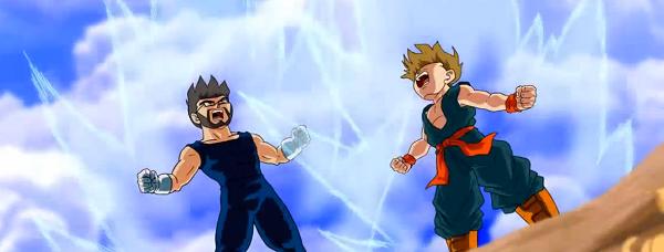 Pai coloca seu filho dentro de Dragon Ball Z