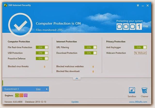 صورة من برنامج 360 Internet Security
