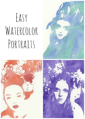 kristin dudish tutorial try out easy watercolor portrait