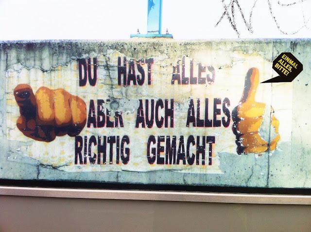 du hast alles richtig gemacht Streetart in Hamburg altona