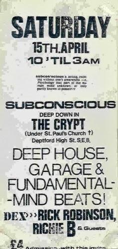 Transpontine new cross acid house 1989 for Acid house 1989