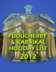 Puducherry and Karaikal - Publick Holidays 2012