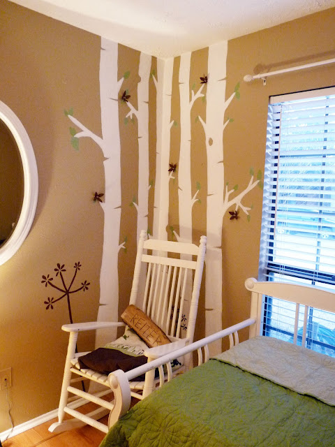 birch tree mural in nursery just paint it blog