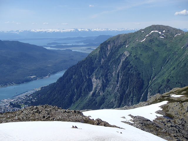 View of Mt Juneau from Gastineau Peak