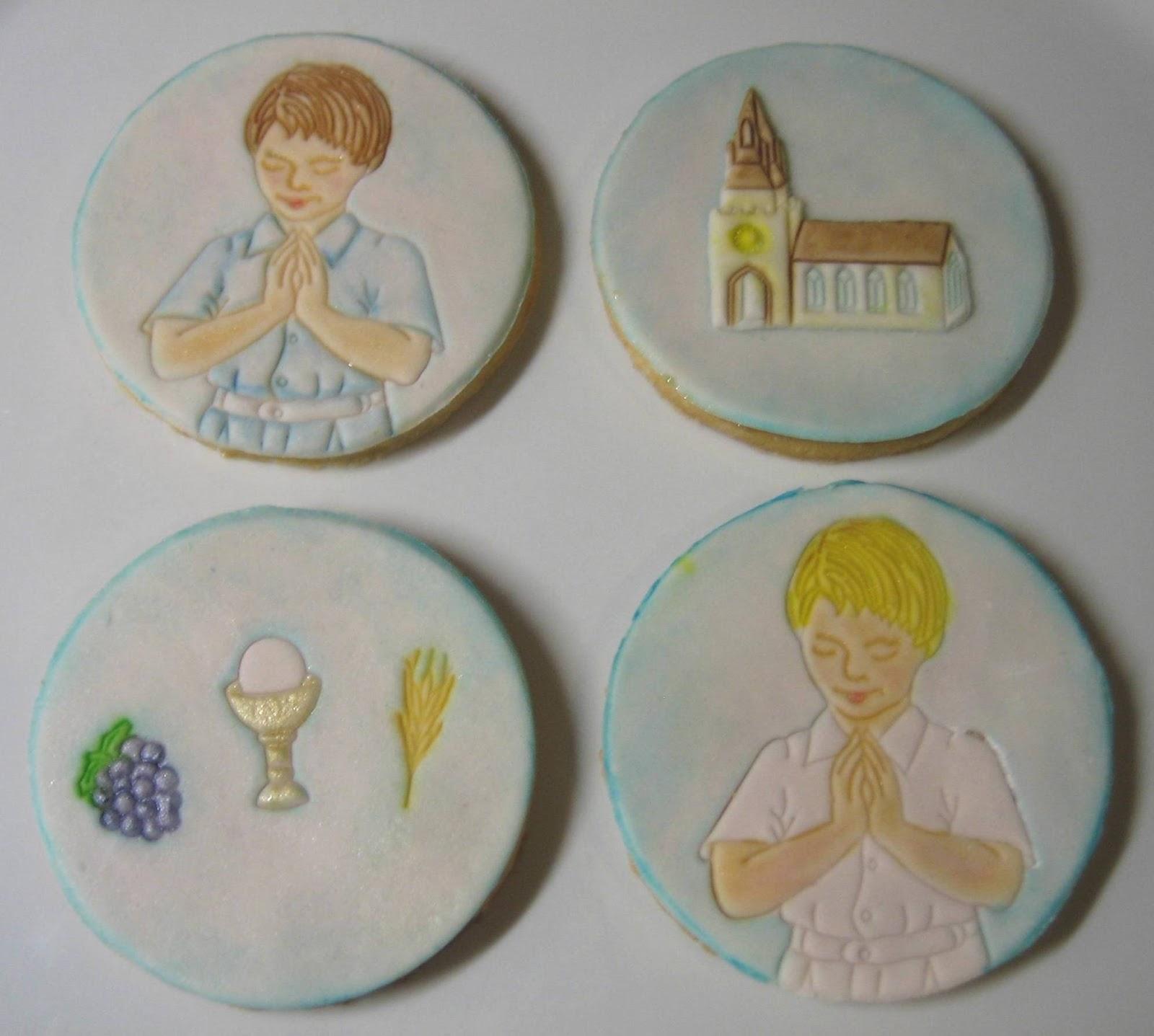 Torte e biscotti decorati per bomboniere golose - Decorazioni per cresima ...