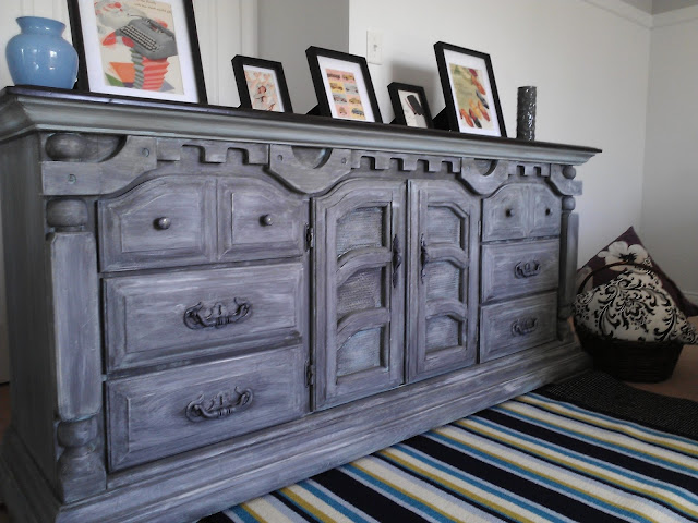 Re Tiqued By Rae Bond Very Whitewashed Grey Dresser