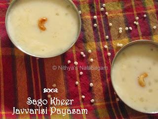 Javvarisi Payasam