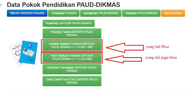 Update Aplikasi Pendataan Dapodik PAUD-DIKMAS V.1.1.4