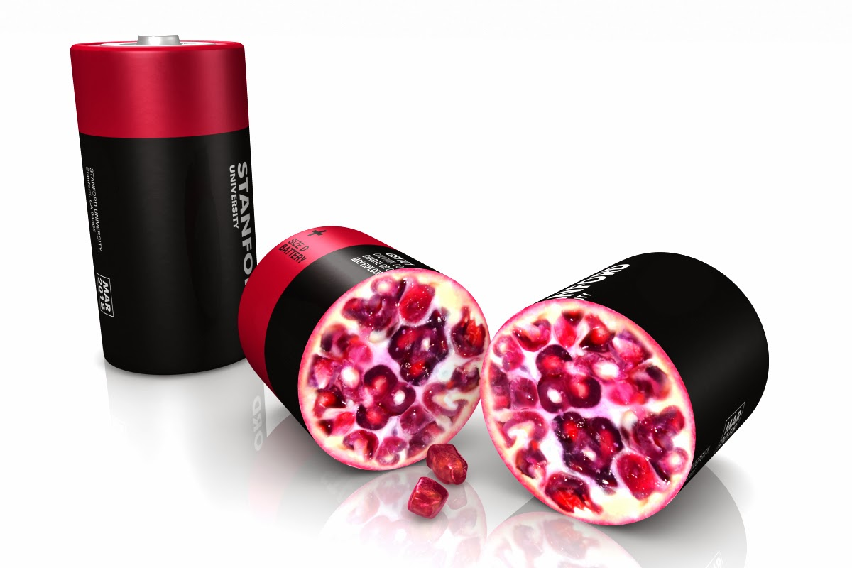 Pomegranate battery charge