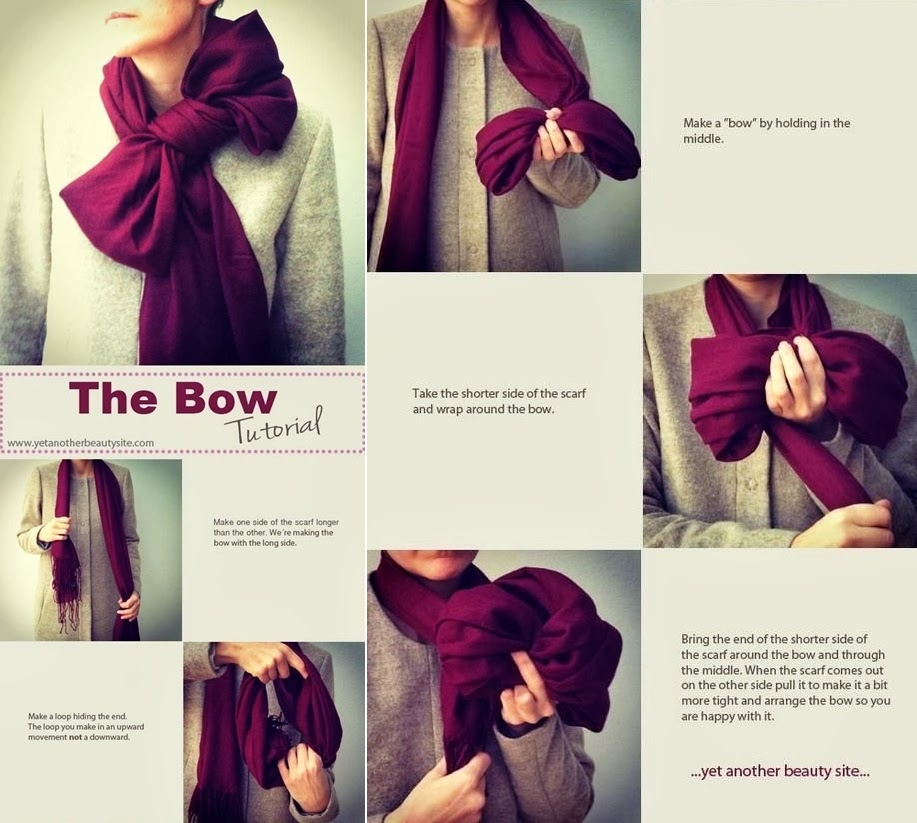The Bow Scarf - DIY Craft Projects