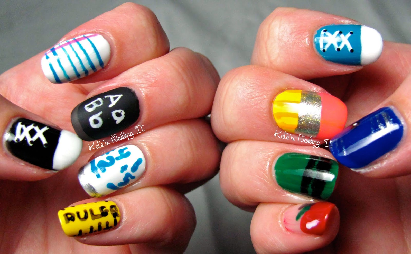 Kate\'s Nailing It: Back to School Nail Art!