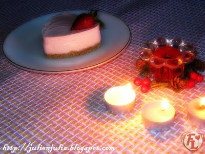 Heart-Shaped Eggless Strawberry Cheesecake قلوب تشيز كيك الفراولة بدون بيض أو جيلاتين