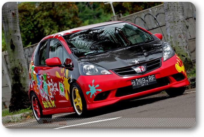 Foto-foto Modifikasi Honda Jazz Terbaru title=