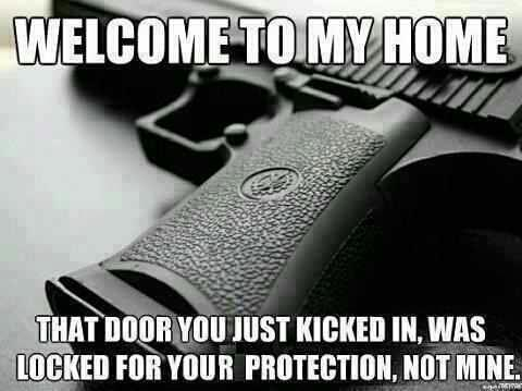 Funny Gun Control Signs The lock on my door is for