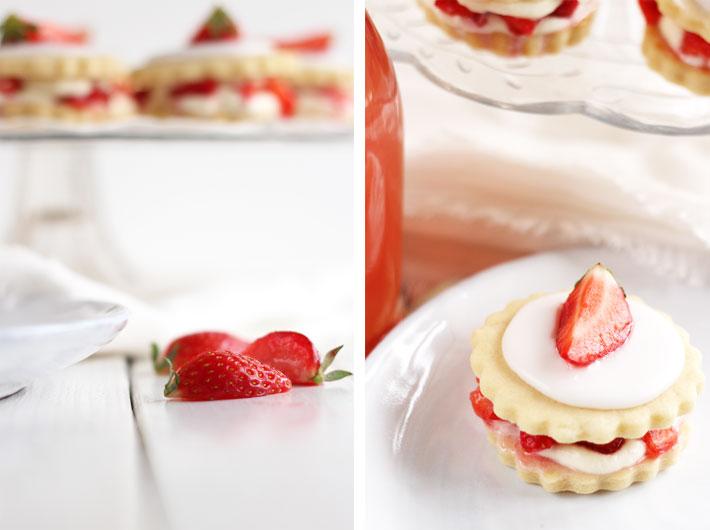 Amalie loves Denmark Vanillekekse mit Erdbeeren