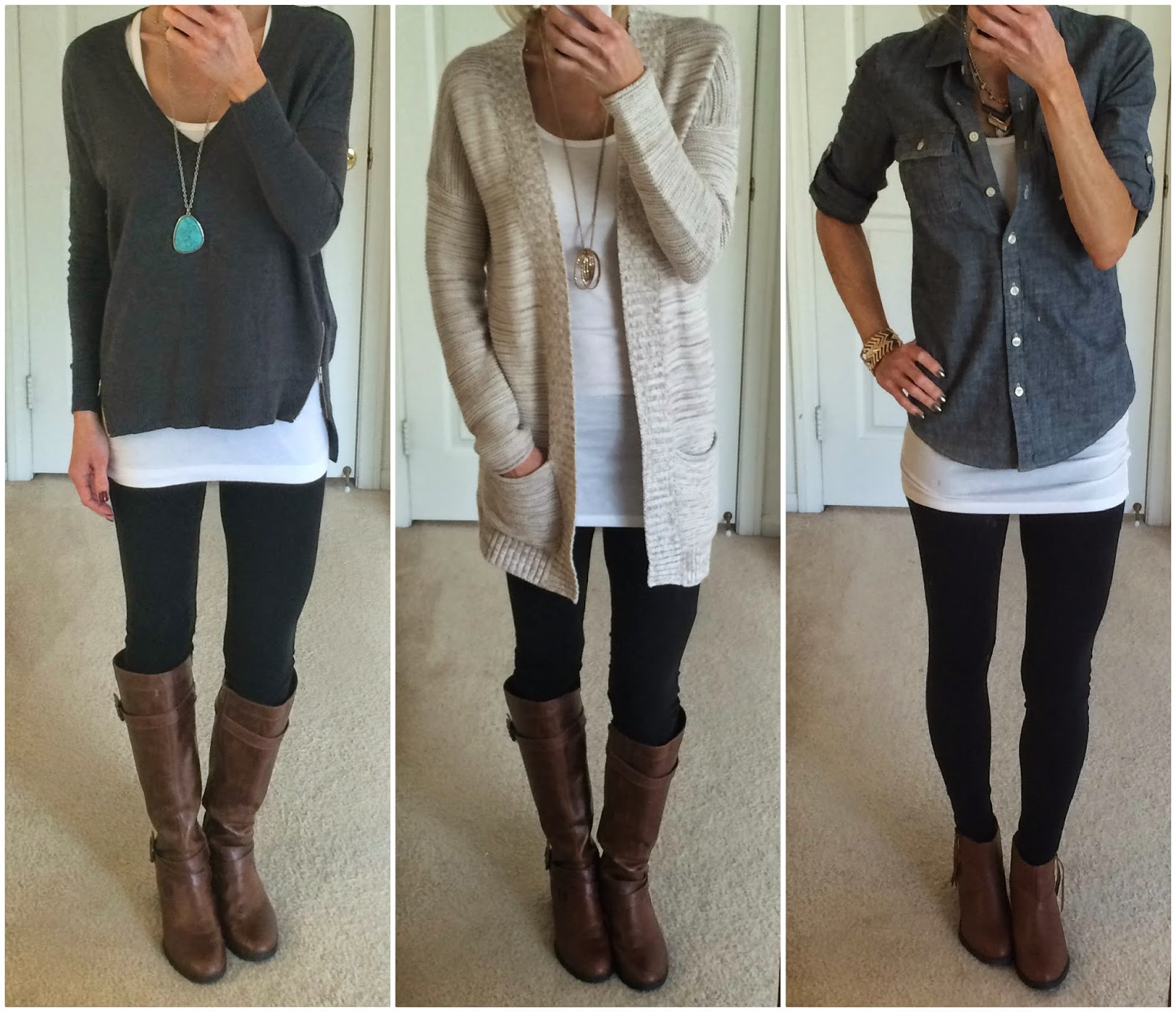 gorgeous outfits leggings boots wear