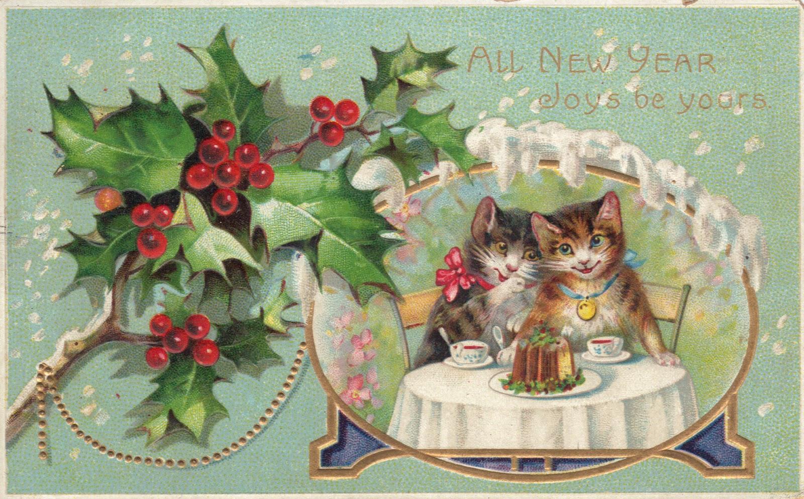 CHLOE VAN PARIS: ♡♥ Happy new year 2012 Vintage New Years Images