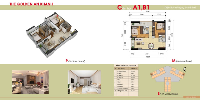 MẶT BẰNG CĂN HỘ THE GOLDEN AN KHÁNH GIAI ĐOẠN 2 A1,B1 mặt bằng căn hộ a1,b1