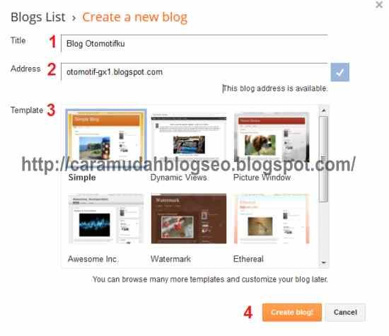 formulir buat blog baru