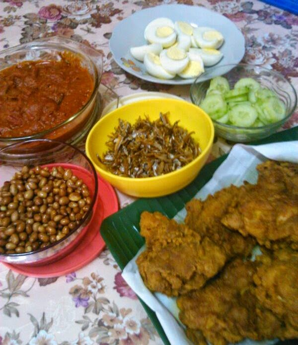 dishes for nasi lemak