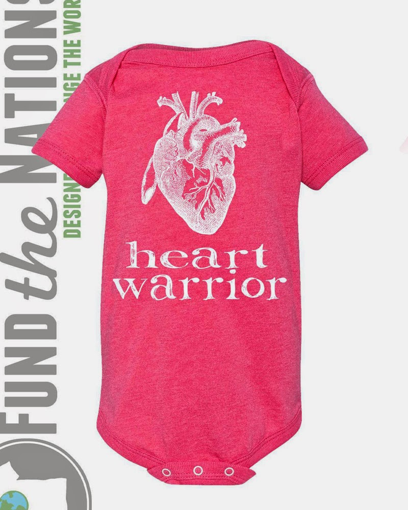 Heart  Warrior Pink Bodysuit