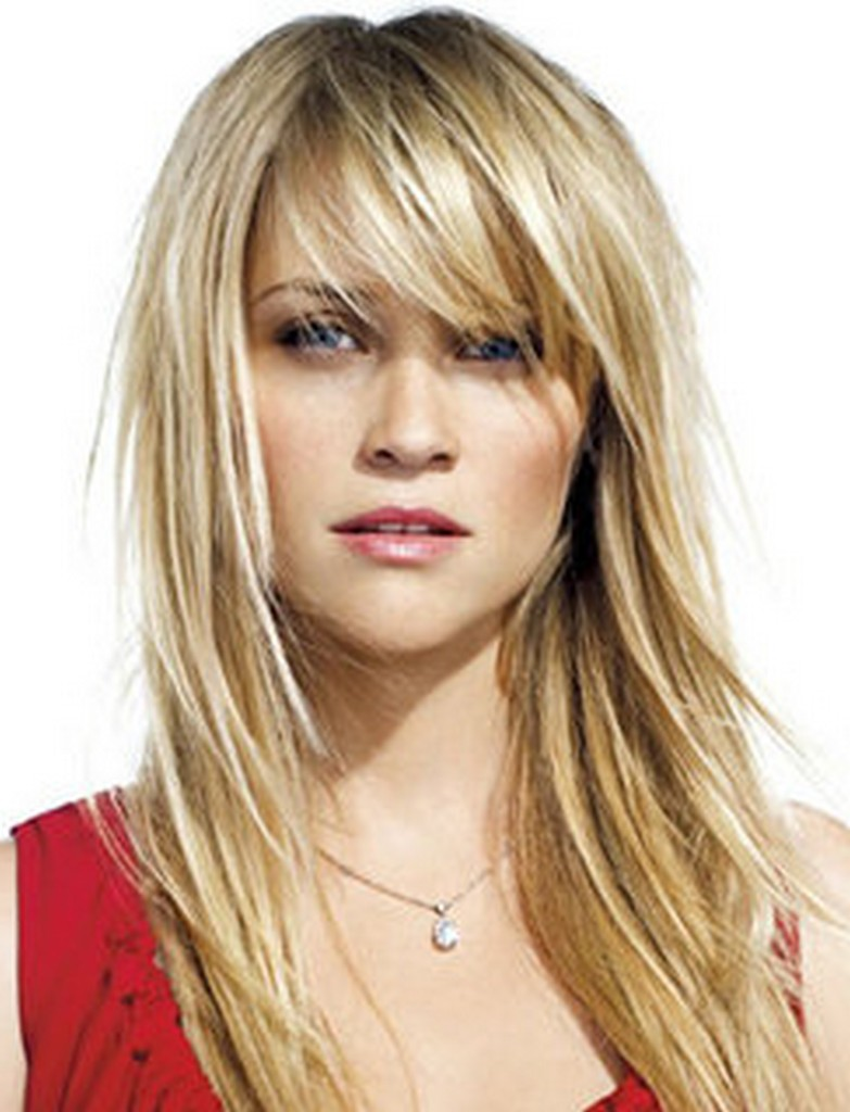 Medium Length Hairstyles With Side Bangs Cute Medium Hairstyles