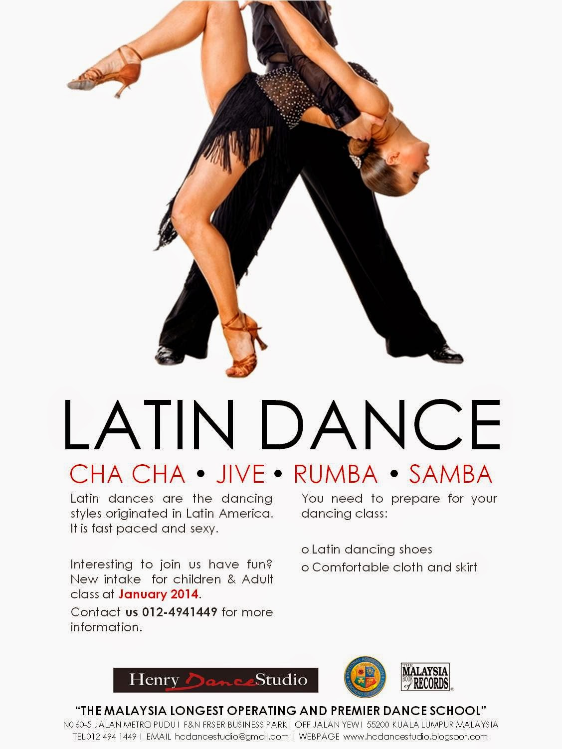 Class Schedules: Henry Dance Studio Class Schedule